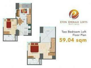 2 bedroom / 55sqm / Loft type Condominiums at ortigas