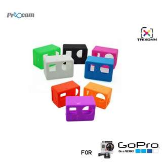 Proocam Pro-J131 Silicone Case for the Camera Mainbody of Gopro Hero 4 , 3 ( BLACK or PINK or BLUE )