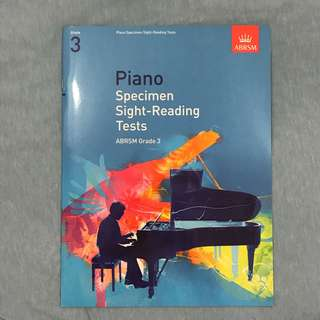 ABRSM Piano Grade 3 Specimen Sight-Reading Tests book