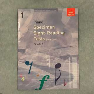 ABRSM Piano Grade 1 Specimen Sight-Reading Tests book