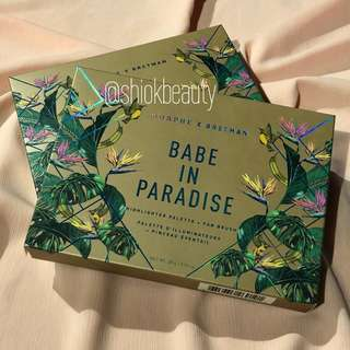 🚚 [SOLD OUT] Bretman Rock Babe In Paradise Highlighter Palette & Fan Brush