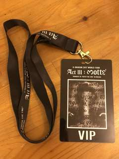 G-Dragon 2017 world tour VIP pass (收藏)