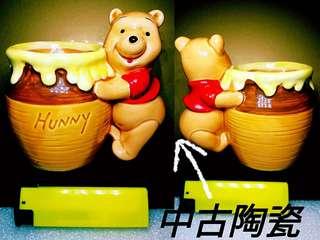 中古:小熊維尼陶瓷擺設,有意請pm