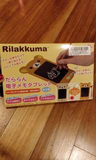 🚚 Rilakkuma Electronic Memo Tablet White
