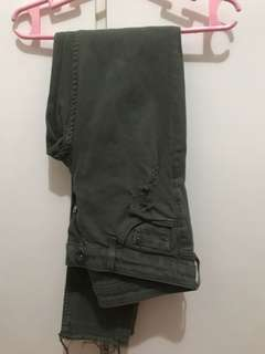 H&M Distressed Army Jeans