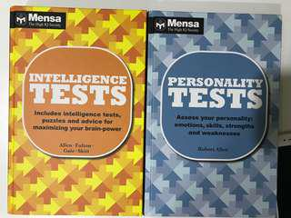QUICK SALE!! MENSA Intelligence and personality test book