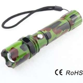 🔥 3mode Rechargeable Zoomable Bright Camouflage Military Swat Tactical Flashlight