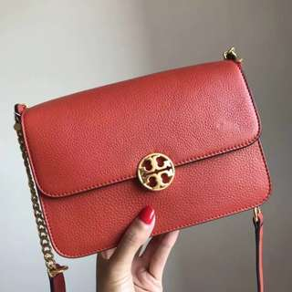 Tory Burch Chelsea Cross-body - orangy red