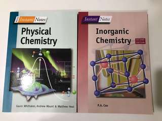 QUICK SALE INSTANT NOTES: CHEMISTRY physical and inorganic