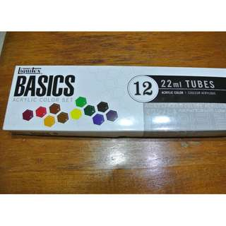 Liquitex Basics 12 tubes acrylic color