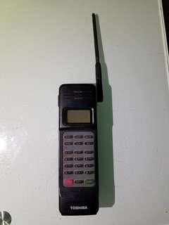 東芝牌 無綫電話  大哥大電話,已不能便用,只能裝飾懷舊擺設道具  老香港懷舊電話