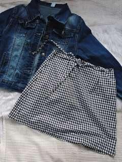 Gingham Skirt (thin fabric)