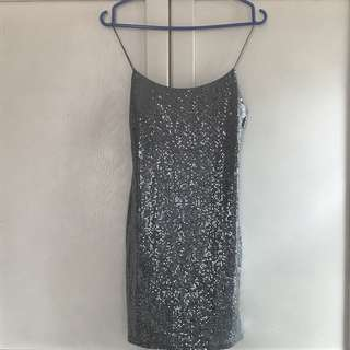 Miss Selfridge Sequin Slip Mini Dress