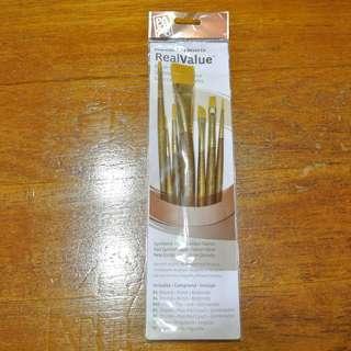 Princeton Art & Brush Real Value Brush Set, Synthetic Gold Taklon