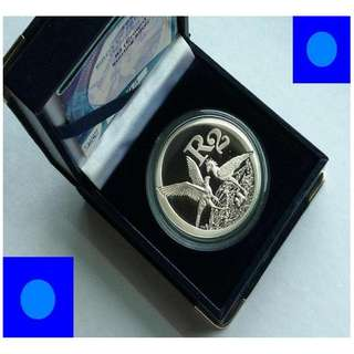 ★ SOUTH AFRICA R2 Rand - 2006 SECRETARY BIRDS. 1 Oz+ Troy (999) Fine Silver Proof Coin