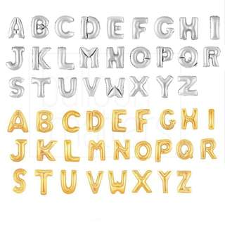 """🚚 32"""" Letter Foil Balloons [Uninflated]"""