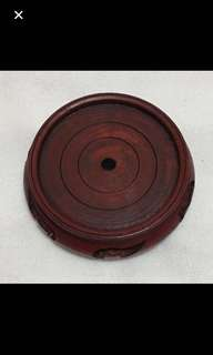 """CLEARANCE SALES {Artwork - Wooden Display/Ornament Stand} Beautiful Diameter 9.6cm (3 3/4"""") Round Wooden Display Stand"""