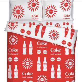 Coca Cola bed sheet twins size
