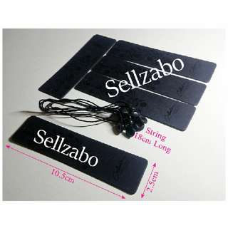 10.5cm x 2.5cm : Tags : Labels : 20 Pc : Rectangle : Labelling : Sell : Sellers : Selling : Items : Stuff : Hang : Clothes : Clothings : Boutiques : Fashion : Accessories : Size : Black Colour : Sellzabo
