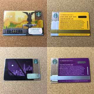 🚚 [Nice Number] New York City Starbucks Card