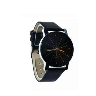 Quartz Women Lady Leather Watch