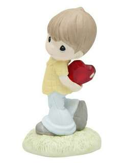 🚚 Precious Moments (My heart shines for you) hand painted porcelain