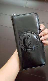 Coach Leather Zip Around Wallet