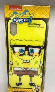 SpongeBob iPhone X Glass Case