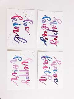 Watercolour Calligraphy Card