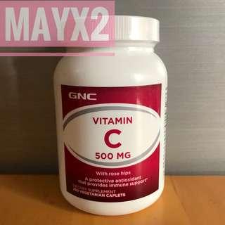 💥提升免疫力💥抗氧化 💥有助美肌💥 (250粒) GNC 維他命C 500mg (Vitamin C)