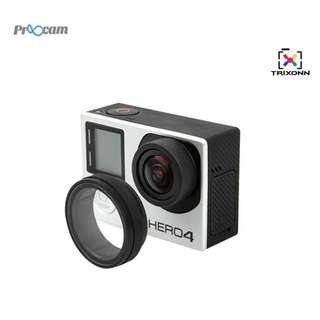 Proocam Pro-F016B UV Filter Protective Lens for Gopro Hero 4/3+3