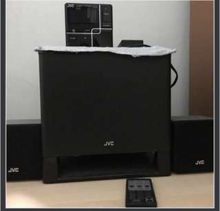JVC Compact Component Speaker System with Woofer