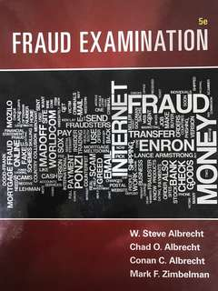 ACCT 2212 Forensic Business Investigation (Fraud Examination 5th Edition)