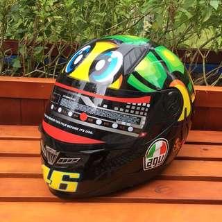 意大利AGV K3頭盔 五大洲 全罩帽 透氣 排汗 專用頭頂 四季夏季防霧摩托車機車全盔