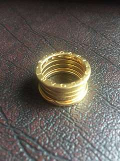 Bvlgari B.Zero1  4-Band 18k Gold Ring