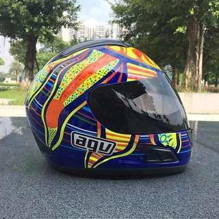 2017意大利AGV K3頭盔 五大洲 全罩帽 透氣 排汗 專用頭頂 四季夏季防霧摩托車機車全盔