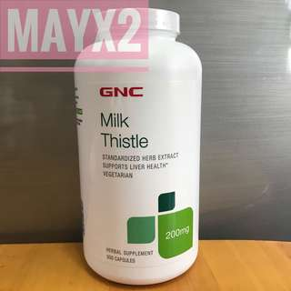 💥養護肝臟💥*新包裝*GNC Milk Thistle 200mg (乳薊果 200mg) 300粒