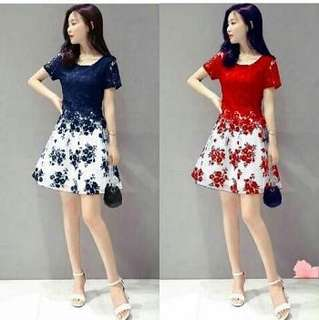 Dress flower brukat