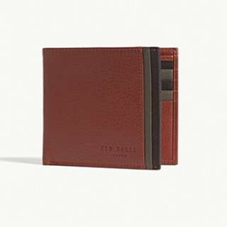 TED BAKER Multi-coloured leather bi-fold wallet