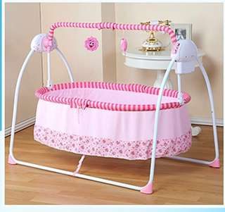 ppimi電動搖籃床嬰兒床寶寶搖搖床新生兒自動搖床智能哄娃睡神器