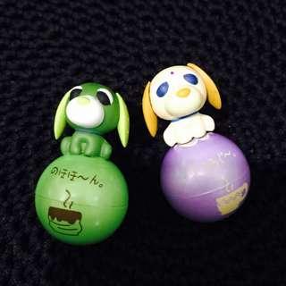 Ocha Ken Green Tea Ball Figures