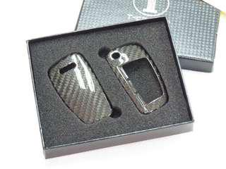 T Carbon CF Audi Key Cover Genuine Carbon Fiber