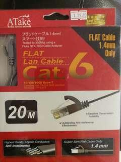 Flat cat 6 lan cables