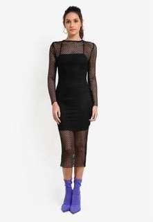 Midi Cami dress (Black)