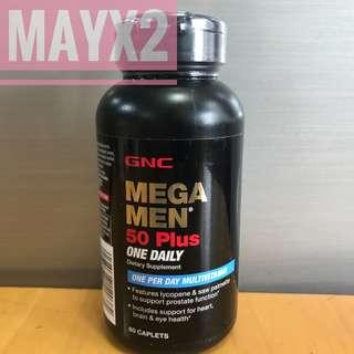 GNC 男士50+綜合維他命 (60粒) Mega Men 50 Plus One Daily
