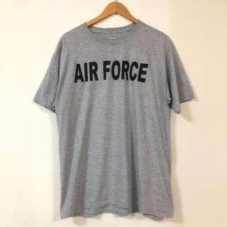 🚚 美式短袖 美軍空軍 灰色T-shirt 無標籤 6月
