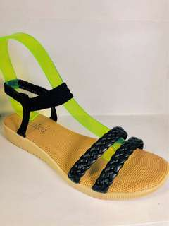 Fashionable Korean Knitted Flat Sandals