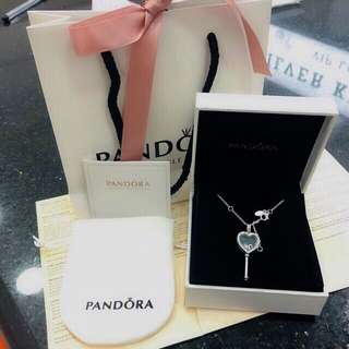 Pandora Key to my heart Necklace