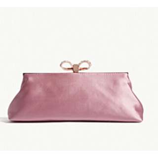 TED BAKER Georgaa embellished satin clutch bag
