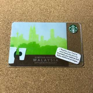 🚚 Malaysia Starbucks Card - Pin Exposed
